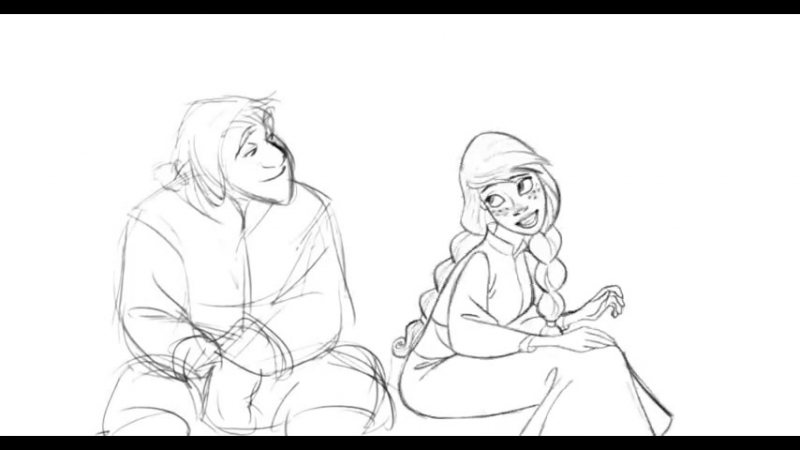 Anna Pencil tests by Randy Haycock for Frozen