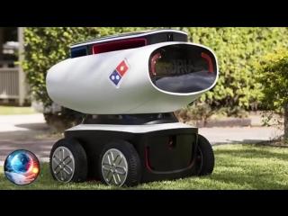 Доставка пиццы будущего! Робот - доставщик!