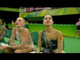 Яна и Рита - после выступления // ОИ Рио 2016