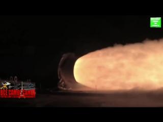 Тест твердотопливного ускорителя РН SLS
