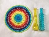 Toalha Mandala redonda croch
