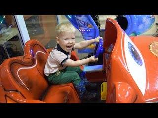 ВЛОГ Детская игровая комната Тачки Маквин , Детский вертолет и мотоцикл