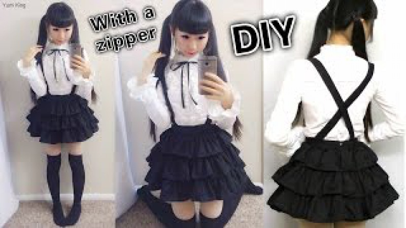DIY Easy Cosplay Japanese Uniform Inspired by Date a Live How to Sew Invisible Zipper on a Dress