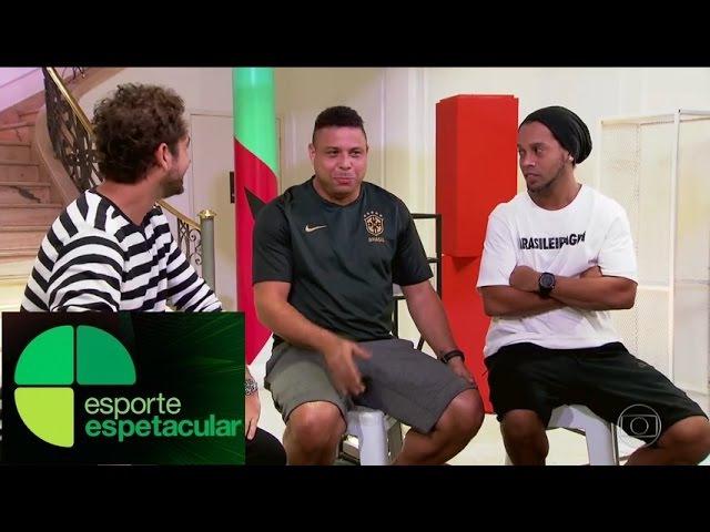 Fenômeno e Ronaldinho Gaúcho respondem quiz, elogiam Tite e Neymar e lembra velhos tempos