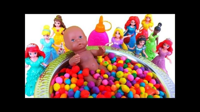 Play Doh Dippin Dots Surprise Baby Doll Teletubbies Peppa Pig SpongeBob Marsupilami Disney