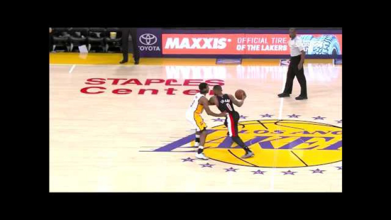 January 11, 2015 - Trail Blazers vs. Lakers - Damian Lillard Dunks All Over The Lakers