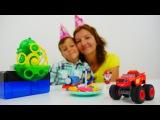 С днем рождения ВСПЫШ и чудо машинки и Щенячий патруль! Пластилин ПЛЕЙ ДО видео для детей