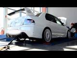 Mitsubishi Lancer EVO IX on dyno Profituning