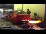 Mitsubishi EVO VII - AMAZING DYNO FLAMES!!
