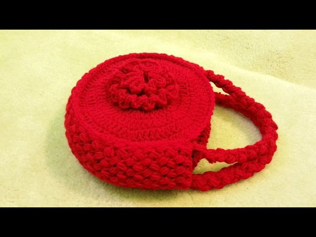 CROCHET How to Crochet Flower Handbag Purse TUTORIAL 120 supersaver