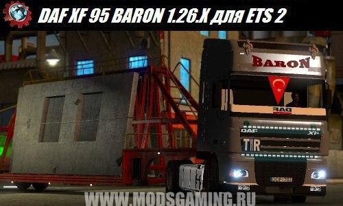 Euro Truck Simulator 2 download mod truck DAF XF 95 BARON 1.26.X