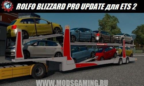 Euro Truck Simulator 2 download mod trailer ROLFO BLIZZARD PRO UPDATE