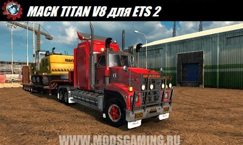 Euro Truck Simulator 2 download mod truck MACK TITAN V8