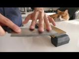Правильная заточка дешевого однодолларового кухонного ножа сделает его супер острым!