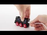 BRIO Подзаряжаемый паровоз с mini USB кабелем 33599