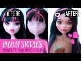 Repainting Dolls - MonsterHigh Draculaura - Faceup Stories ep.50