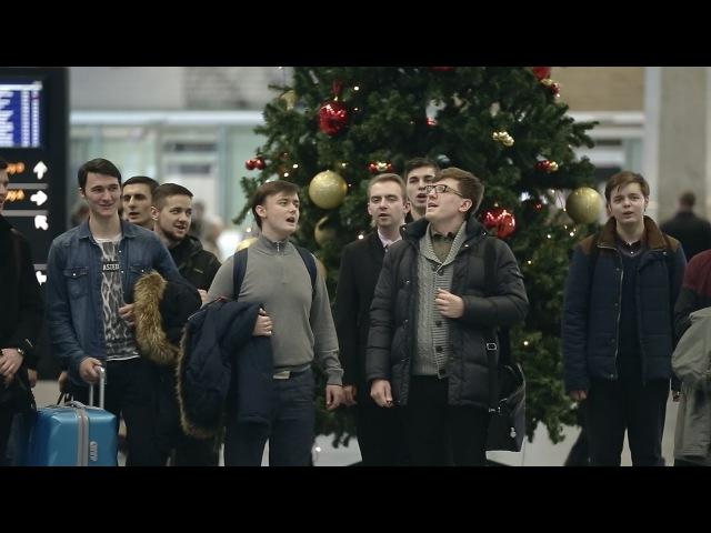 Предрождественнский перфоманс в Пулково / Christmas eve perfomance in Pulkovo Airport