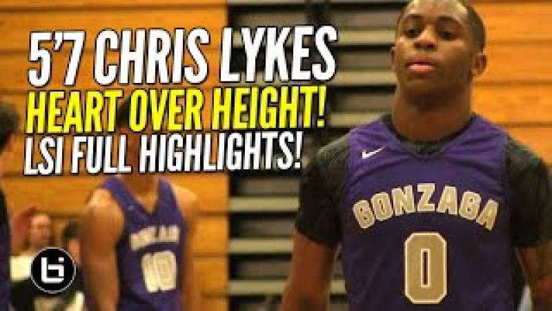 5'7 Chris Lykes FEARLESS PG Plays His HEART OUT! FULL Highlights at LSI!