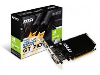 MSI GEFORCE GT710 2GB DDR3 PCI-E VIDEO CARD SILENT VGA DVI HDMI LOW PROFILE