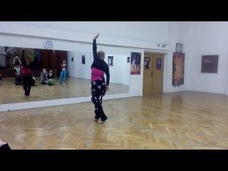 Урок по восточному танцу ( Соло Табла) для начинающих .Ольга Нур