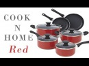 Best nonstick cookware sets, Cook N Home NC 00399 10 Piece, Red