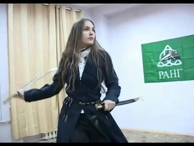 красивая девушка танец с саблей girl with a sword
