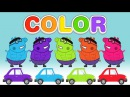 Learn the Colors with Hulk Peppa Pig and New Cars 2016