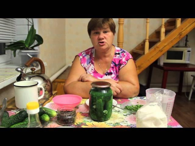Обалденные огурчики. Рецепт хрустящих маринованных огурцов на зиму. » Freewka.com - Смотреть онлайн в хорощем качестве