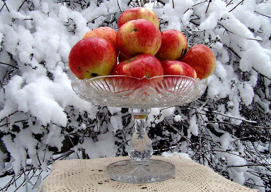 Открытка с 1 снегом и удачного дня, декабрь