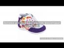 Ботинки для девочки с цветком фиолетовые Indigo kids
