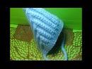 Вязание спицами детская шапочка для новорожденных Эльф 140