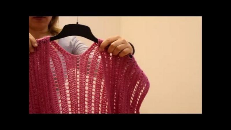 Простой жилет крючком. Simple crochet vest.