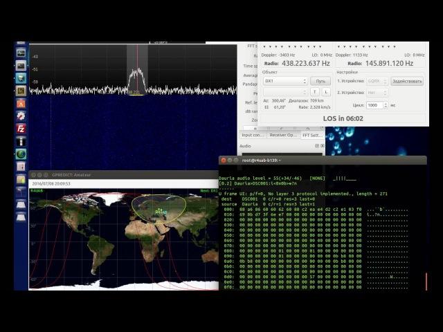 Приём телеметрии со спутника DX 1 компании Dauria Aerospace 8 июля 2016 года в 20 08 UTC R4UAB