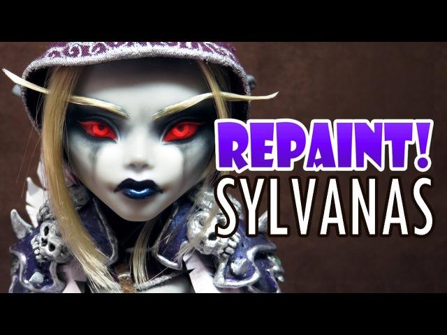 Repaint! Warcraft Sylvanas Windrunner Custom OOAK Doll