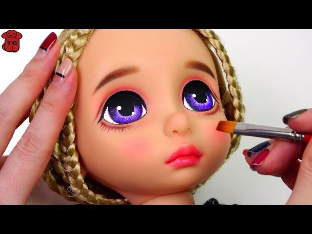 ★베이비돌 라푼젤 리페인팅 ★Repainting Baby Doll Rapunzel Disney Animators' Collection Doll★ベビードール化粧
