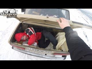 Дрифт в багажнике жигулей, или сколько нужно жиг чтобы перетянуть УАЗ Патриот