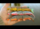 Attacks on Mike the Pike fishing lure for muskie bass zander big perch & trout. Рыбалка щука атака