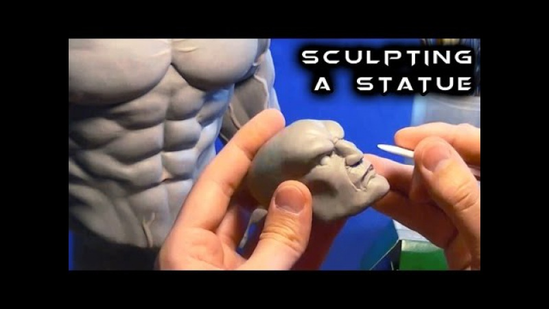 Sculpting a Statue from Scratch with Super Sculpey   Street Fighter   Akuma