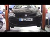 Замена передних тормозных дисков и колодок на Renault Clio lll