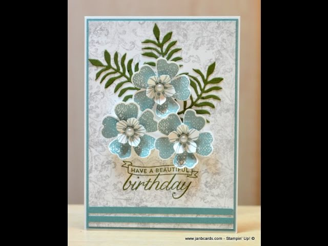 No.160 - Timeless Textures Flowers - JanB UK Stampin' Up! Demonstrator Independent
