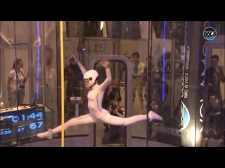 16 year old Maja Kuczyńska's freestyle routine at the Wind Games - dancing in a wind tunnel