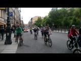 Велопарад в Санкт-Петербурге. Движение по встречной. ч.2