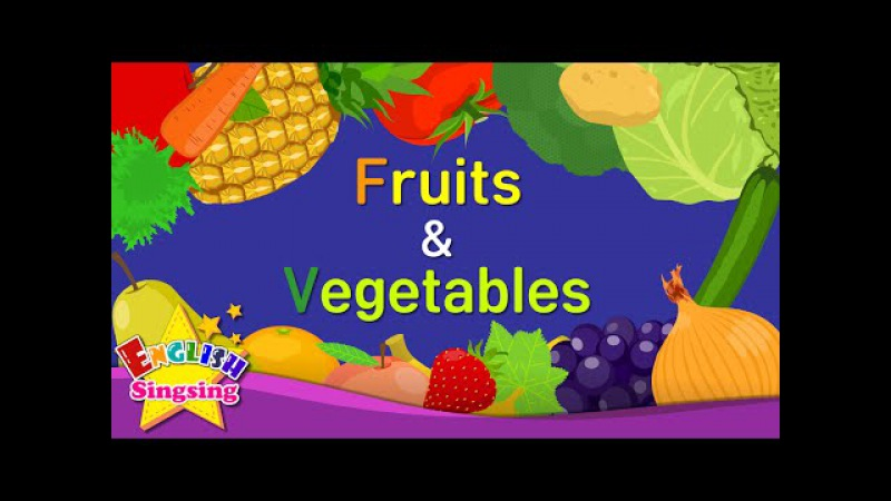 Kids vocabulary - Fruits Vegetables 1 - Learn English for kids - English educational video