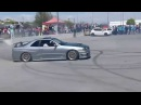 Nissan Skyline GT R R34 Drifting Burnout the ROAD