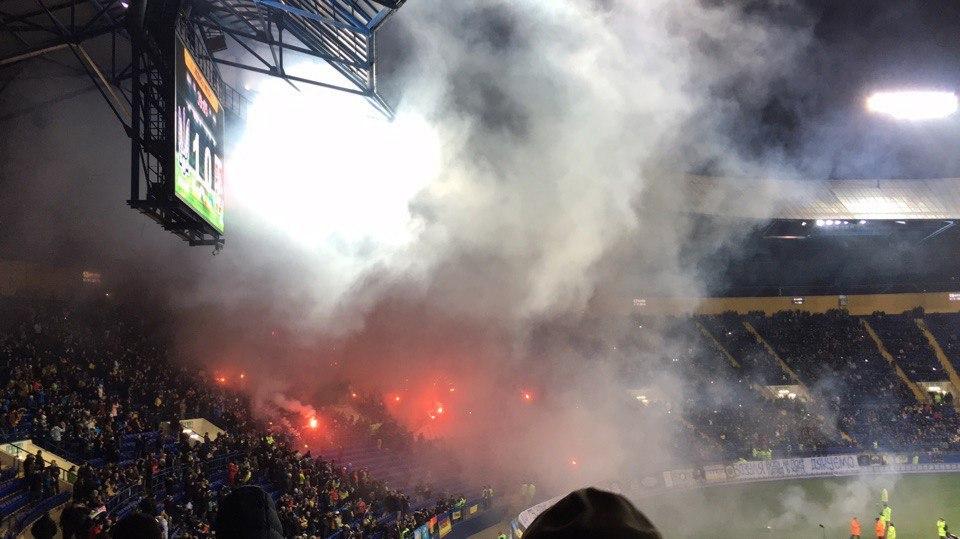 В Харькове фанаты отожгли по полной программе (ВИДЕО, ФОТО)