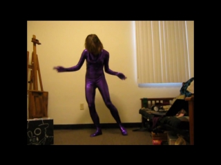 zentai dance girl