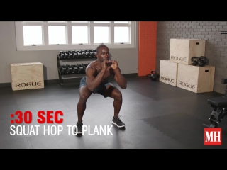 12-minute bodyweight muscle burner - Men's Health