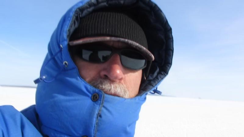 На мотособаке 6 человек по льду Н-Камского вдхр. 21.03.2017