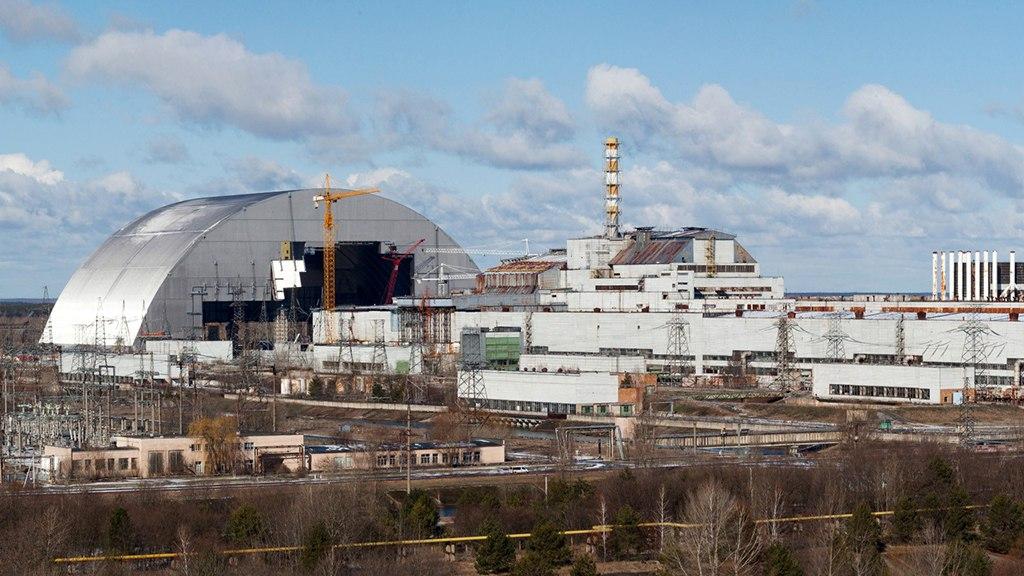 Вид Чернобыльской АЭС