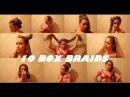 10 Прически с афрокосичками зи-зи 10 How I Style BOX BRAIDS 10 Quick Hairstyles